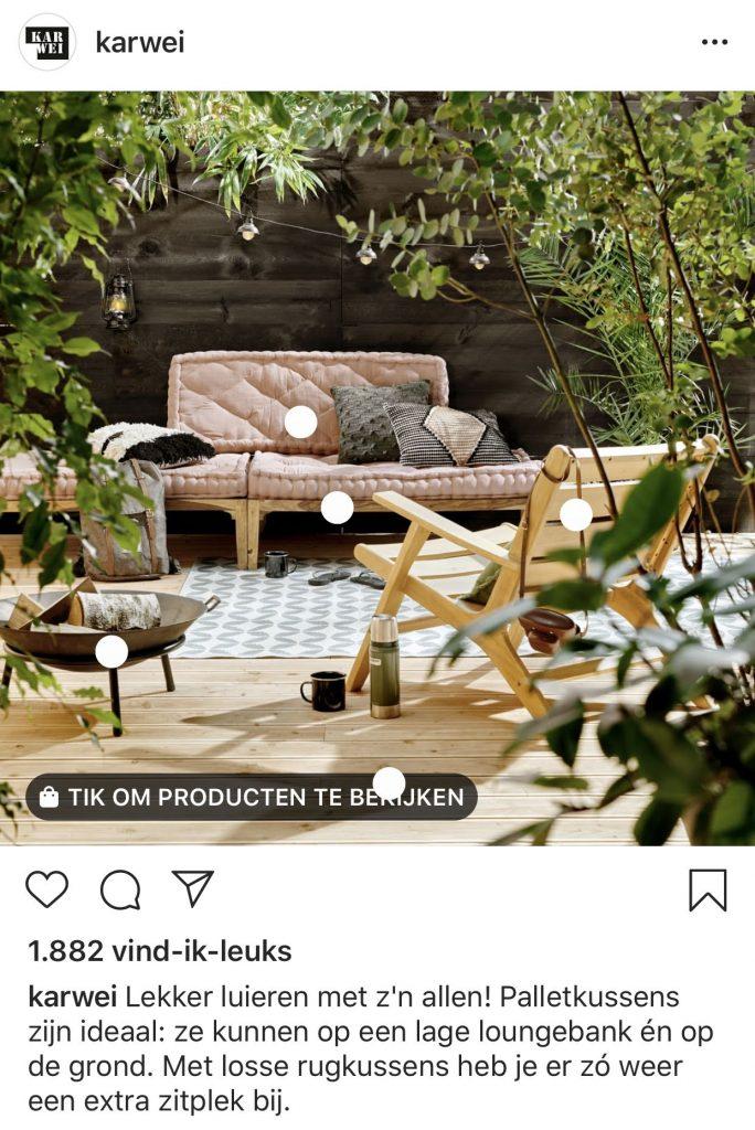 Product tags Instagram Karwei foto 1