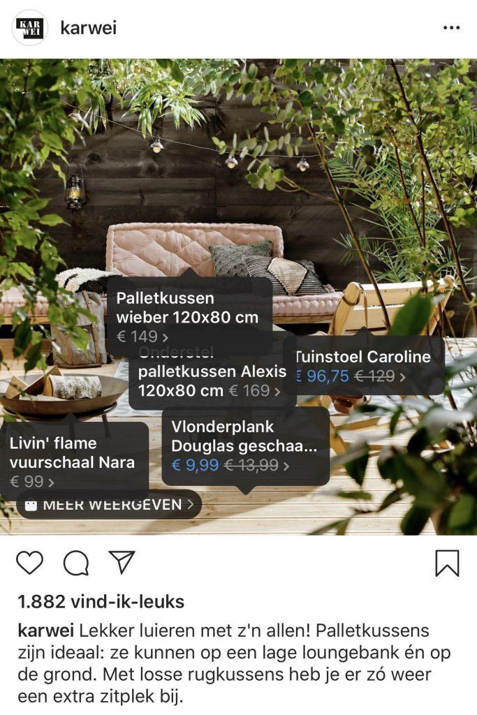 Product tags Instagram Karwei foto 2